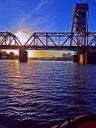 under bridge sunrise